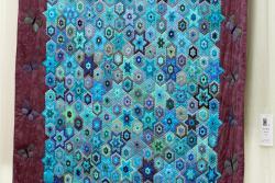 11   n°  52    79    Anita Querin, Liège, Nuit turquoise,  165 cm x  184 cm
