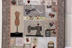 22    n°  55    71    Marie Jeanne Beysen, Limburg,  I love sewing, 100 cm x 104 cm